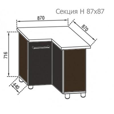 Кухня Адель секция угол Н 87х87 Світ Меблів