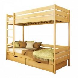 Двуспальная деревянная кровать Дуэт 80х190 102 Щит 2Л4  Эстелла