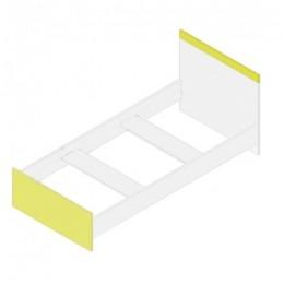 Моби Кровать 90 (каркас) желтый Гербор
