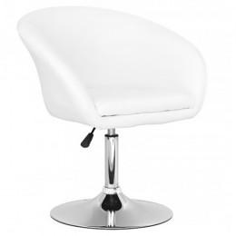 Мягкое кресло Мурат хром белый кожзам ГСДМ