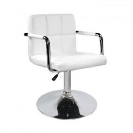 Кресло Артур кожзам белый ГСДМ