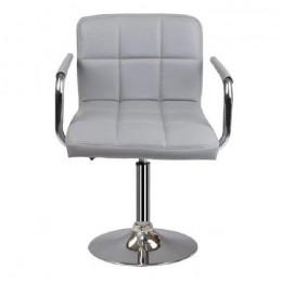 Кресло Артур кожзам серый ГСДМ