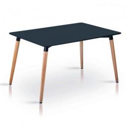 Стол обеденный Нури бук 120х80 см черный ГСДМ