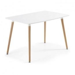 Стол обеденный Нури бук 120х80 см белый ГСДМ