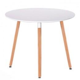 Стол обеденный Нолас круглый D=80 см белый ГСДМ