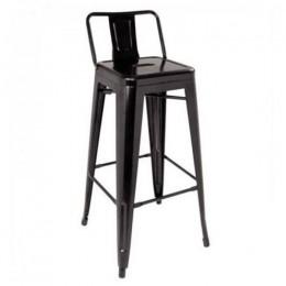 Высокий барный стул Толикс Back хокер черный ГСДМ