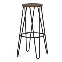 Высокий барный стул Белфрай хокер темное дерево