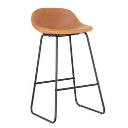 Высокий барный стул Бостон хокер светло-коричневый