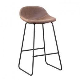 Высокий барный стул Бостон хокер темно-коричневый