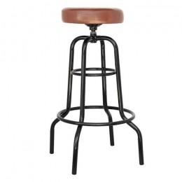 Высокий барный стул Винтаж хокер коричневый