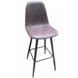 Барный стул хокер Нубук Н коричневый