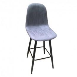 Барный стул хокер Нубук Н серый