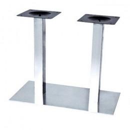 Опора для стола Днестр нержавейка inox72 см, основание 40*70 см