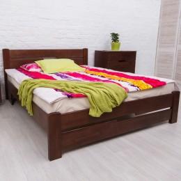Двуспальная кровать Айрис с изножьем 1600*2000 тем. орех МиксМебель