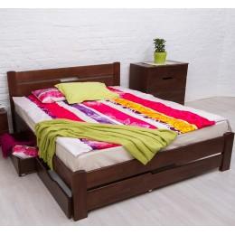 Двуспальная кровать Айрис з ящиками 1600*2000 темн. орех МиксМебель