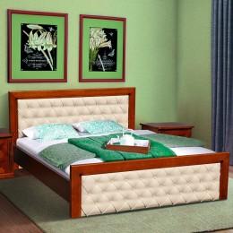Двуспальная кровать Freedom 1600*2000 (орех+патина), ольха МиксМебель