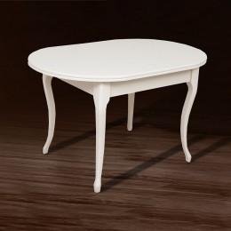 Стол кухонный Твист (1260+340)*810 белый МиксМебель