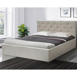 Двуспальная кровать Атланта 1600*2000 с п/м Аляска 23 беж МиксМебель