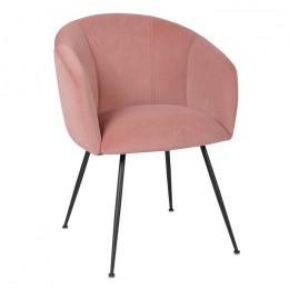 Обеденный стул кресло M-60 (фламинго/черный) Vetro