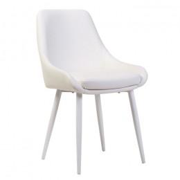 Современный обеденный стул N-49 (белый)  Vetro