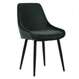 Кухонный стул модерн N-49 (изумрудный вельвет/черный) Vetro