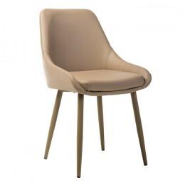 Мягкий обеденный стул N-49 (капучино) Vetro