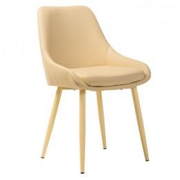 Мягкий кухонный стул N-49 (молочный) Vetro