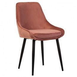 Обеденный стул кресло N-49 (пудровый вельвет/черный) Vetro
