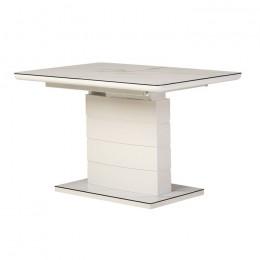 Раскладной обеденный стол TM-49 (белый кварц) Vetro