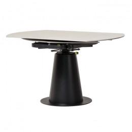 Раскладной керамический обеденный стол TML-831 (грей стоун/черный) Vetro