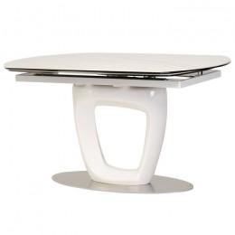 Обеденный керамический стол TML-825 (белый мрамор) Vetro