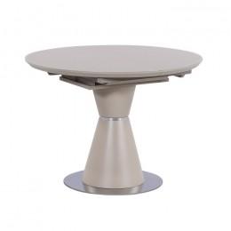 Круглый раскладной кухонный стол TML-651-1 (капучино/капучино+серебро) Vetro