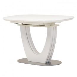 Раскладной обеденный стол TML-765-1 (матовый белый) Vetro