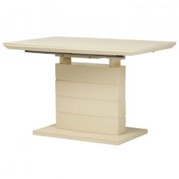 Обеденный раздвижной стол TMM-50-2 (матовый молочный) Vetro