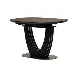 Керамический раздвижной обеденный стол TML-865-1 (черный оникс) Vetro