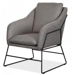 Кресло Дарио (серый/черный) Vetro