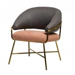 Кресло Адель (серый + розовый/золото) Vetro