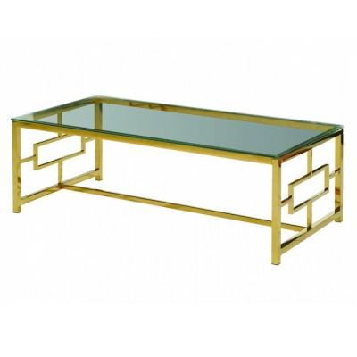 Журнальный столик CL-1 прозрачный + золото 120*60*40(H) Vetro