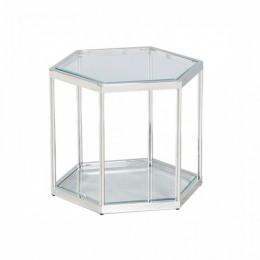 Журнальный столик CK-2 прозрачный + серебро 60*52*45,5(H) Vetro
