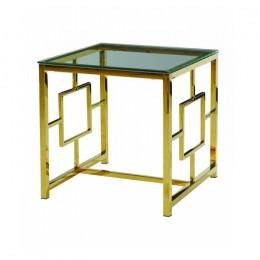 Журнальный столик CL-2 прозрачный + золото 55*55*55(H) Vetro