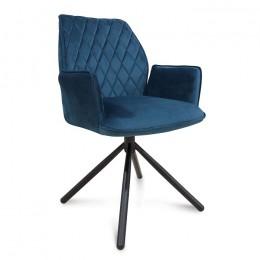 Кресло поворотное модерн М-34 лазурный 94*60*59*50 Vetro