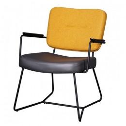 Кресло для гостиной модерн М-80 серый + горчичный 79*68,5*60*44 Vetro