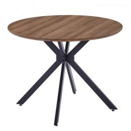 Кухонный стол ТM-46 омбре D100*75(H) Vetro