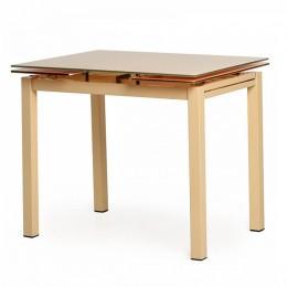 Раздвижной обеденный стол T-231-8 бежевый (90-150)*70*75(H) Vetro