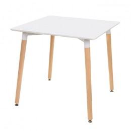 Кухонный стол ТM-30 белый + бук 80*80*76(H) Vetro