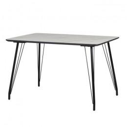 Кухонный стол ТM-47 белый мрамор 120*80*76(H) Vetro