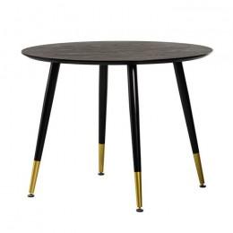 Круглый обеденный стол TM-99 черный D100*75(H) Vetro