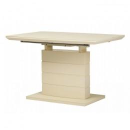 Раздвижной обеденный стол TMM-50-1 матовый молочный (120-160)*80*76(Н) Vetro
