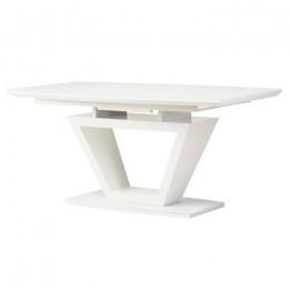 Раздвижной обеденный стол TMМ-53-2 матовый белый (160-200)*90*76(Н) Vetro