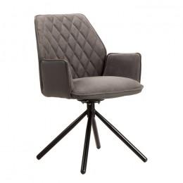 Кресло поворотное модерн М-34 графит 94*60*59*50 Vetro